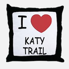 I heart katy trail Throw Pillow