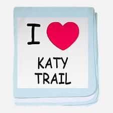 I heart katy trail baby blanket