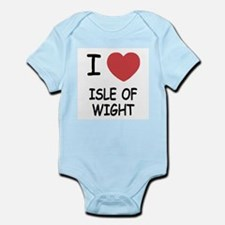 I heart isle of wight Infant Bodysuit