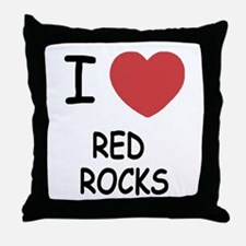 I heart red rocks Throw Pillow