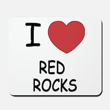 I heart red rocks Mousepad