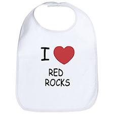 I heart red rocks Bib