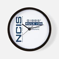 "NCIS Gibbs"" Rule #35 Wall Clock"