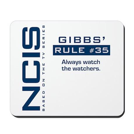 """NCIS Gibbs"""" Rule #35 Mousepad"""