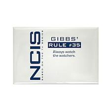 "NCIS Gibbs"" Rule #35 Rectangle Magnet"