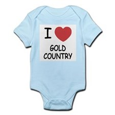 I heart gold country Infant Bodysuit