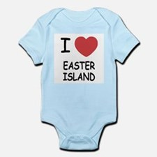 I heart easter island Infant Bodysuit