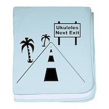 Ukulele Exit baby blanket