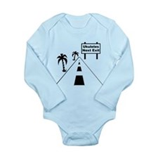 Ukulele Exit Long Sleeve Infant Bodysuit