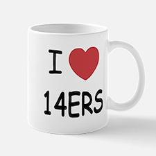 I heart 14ers Mug