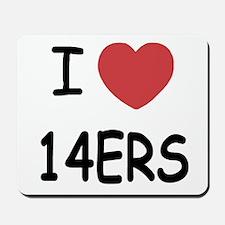 I heart 14ers Mousepad