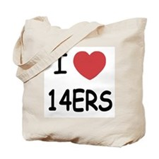 I heart 14ers Tote Bag