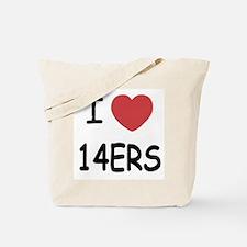 I heart 14ers Tote Bag