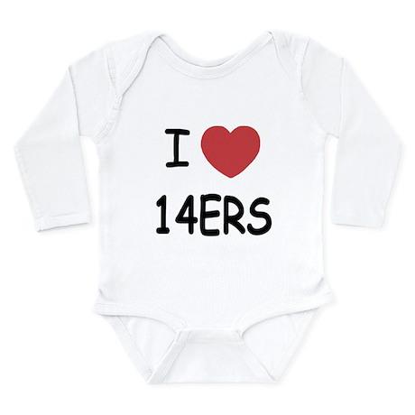 I heart 14ers Long Sleeve Infant Bodysuit