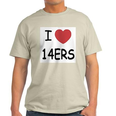 I heart 14ers Light T-Shirt