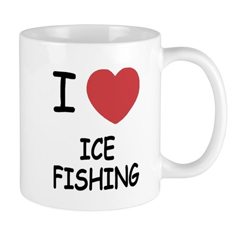 I heart ice fishing Mug