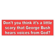 voices from god... Bumper Bumper Sticker