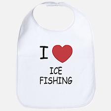 I heart ice fishing Bib