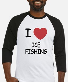 I heart ice fishing Baseball Jersey