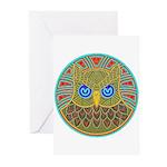 Vintage Owl Mandala Greeting Cards (Pk of 10)