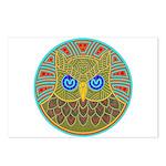 Vintage Owl Mandala Postcards (Package of 8)