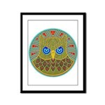 Vintage Owl Mandala Framed Panel Print