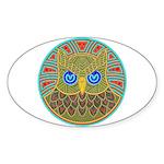 Vintage Owl Mandala Sticker (Oval)