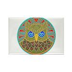 Vintage Owl Mandala Rectangle Magnet