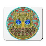 Vintage Owl Mandala Mousepad