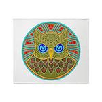 Vintage Owl Mandala Throw Blanket