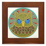 Vintage Owl Mandala Framed Tile