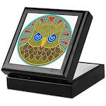 Vintage Owl Mandala Keepsake Box