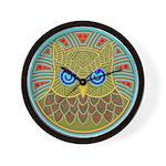 Vintage Owl Mandala Wall Clock
