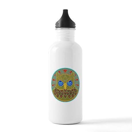 Vintage Owl Mandala Stainless Water Bottle 1.0L