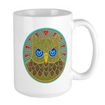 Vintage Owl Mandala Large Mug