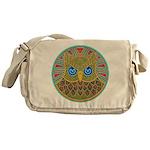Vintage Owl Mandala Messenger Bag