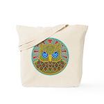 Vintage Owl Mandala Tote Bag