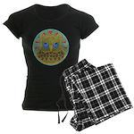 Vintage Owl Mandala Women's Dark Pajamas