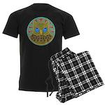 Vintage Owl Mandala Men's Dark Pajamas
