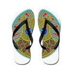 Vintage Owl Mandala Flip Flops