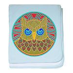 Vintage Owl Mandala baby blanket