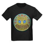 Vintage Owl Mandala Kids Dark T-Shirt