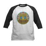 Vintage Owl Mandala Kids Baseball Jersey