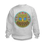 Vintage Owl Mandala Kids Sweatshirt