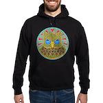 Vintage Owl Mandala Hoodie (dark)