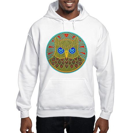 Vintage Owl Mandala Hooded Sweatshirt