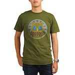 Vintage Owl Mandala Organic Men's T-Shirt (dark)