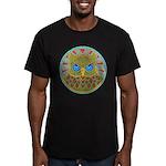 Vintage Owl Mandala Men's Fitted T-Shirt (dark)