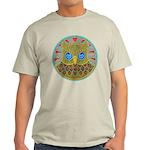 Vintage Owl Mandala Light T-Shirt