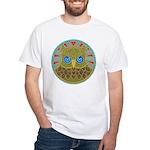 Vintage Owl Mandala White T-Shirt